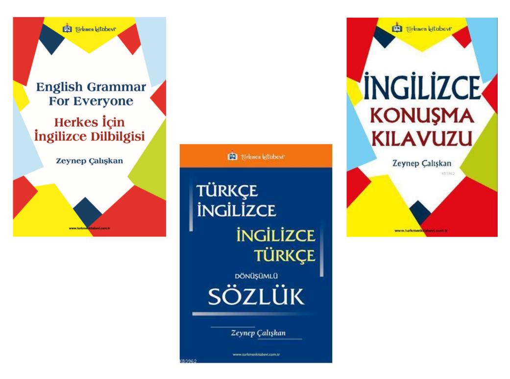 İngilizce Dilbilgisi / İngilizce Konuşma Kılavuzu / İngilizce Sözlük Seti